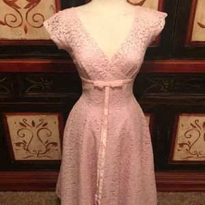 1950's pink lace dress by Jane Andre California